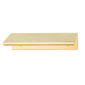 Cornerstone Series Tab Collection (1-5/8'' W) ''L'' Handle, Brushed Brass, 40mm W x 42mm D x 18mm H, Center to Center: 25mm (1'')