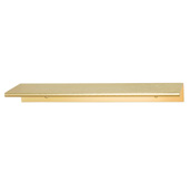 Cornerstone Series Tab Collection (6'' W) ''L'' Handle in Brushed Brass, 152mm W x 42mm D x 18mm H, Center to Center: 4''