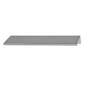 Cornerstone Series Tab Collection (6'' W) ''L'' Handle in Silver Anodized, 152mm W x 42mm D x 18mm H , Center to Center: 4''