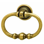 Rustico Collection Ring Handle in Antique Brass, 55mm W x 45mm H