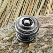 Somerset Collection 1-1/4'' Dia. Round Knob in Pewter, 30mm Diameter x 28mm D x 23mm Base Diameter