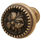 Artisan Collection Knob in Antique Brass, 48mm Diameter x 37mm D x 19mm Base Diameter