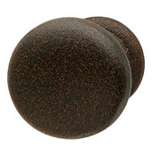 Bordeaux Collection Knob in Rust, 32mm Diameter x 32mm D x 25mm Base Diameter