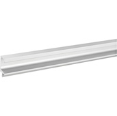 (98-3/7''W) Extruded Continuous Handle, Satin Aluminum, 2500mm W x 20.5mm D x 45mm H