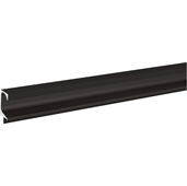 (98-3/7''W) Extruded Continuous Handle, Black, 2500mm W x 20.5mm D x 45mm H