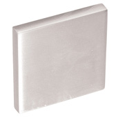 Cornerstone Series Soho Collection (1-3/8'' W), Knob in Stainless Steel Look, 35mm W x 20mm D x 35mm H