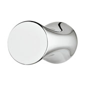 Avignon Collection (1-1/6''W) Knob, Polished Chrome, 30mm W x 22mm D x 28mm H, 16mm Center to Center