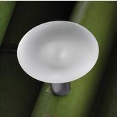 (1-7/16'' Diameter) Crystal & Matt Stainless Steel Base Knob, 36mm Diameter x 29mm D x 9mm Base Diameter