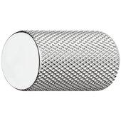 Design Deco Series Urban Collection Aluminum Round Knob with Grip Ridges in Polished Chrome, 17mm Diameter x 28mm D (11/16'' Diameter x 1-1/8'' D)