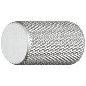 Design Deco Series Urban Collection Aluminum Knob with Grip Ridges in Stainless Steel, 17mm Diameter x 28mm D (11/16'' Diameter x 1-1/8'' D)