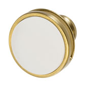Amerock Oberon Collection (1-3/4'' Dia.) Round Knob, Golden Champagne/ Frosted, 44mm Diameter