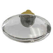 Amerock Glacio Collection (1-3/4''W) Oval Knob, Golden Champagne & Clear Crystal, 44mm W x 25mm D x 30mm H