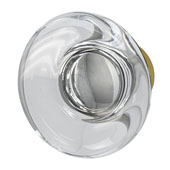Amerock Glacio Collection (1-3/4'' Dia.) Round Knob, Golden Champagne & Clear Crystal, 44mm Diameter