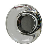 Amerock Glacio Collection (1-3/4'' Dia.) Round Knob, Oil-Rubbed Bronze & Clear Crystal, 44mm Diameter