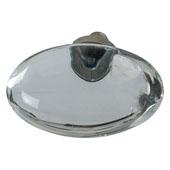 Amerock Glacio Collection (1-3/4''W) Oval Knob, Polished Nickel & Clear Crystal, 44mm W x 25mm D x 30mm H