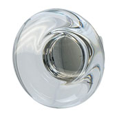 Amerock Glacio Collection (1-3/4'' Dia.) Round Knob, Polished Nickel & Clear Crystal, 44mm Diameter