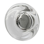 Amerock Glacio Collection (1-3/4'' Dia.) Round Knob, Satin Nickel & Clear Crystal, 44mm Diameter
