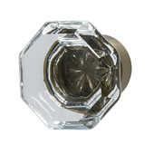 Amerock Traditional Classics Collection (1-2/7'' Dia.) Knob, Golden Champagne & Clear Glass, 33mm Diameter