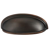 Amerock Ashby Collection (5''W) Cup Pull, Oil-Rubbed Bronze, 128mm W x 44mm D x 35mm H, 76/ 102mm Center to Center