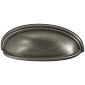 Design Deco Series Amerock Ashby Collection Zinc Cup Handle in Pewter, 128mm W x 35mm D x 44mm H (5-1/16'' W x 1-3/8'' D x 1-3/4'' H), Center to Center: 76/102mm (3 / 4'')