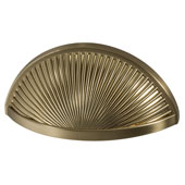Amerock Sea Grass Collection (3-6/7''W) Cup Pull, Golden Champagne, 98mm W x 46mm D x 30mm H, 76mm Center to Center