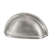 Amerock Collection (3-3/7''W) Cup Pull, Antique Silver, 87mm W x 41mm D x 25mm H, 76mm Center to Center