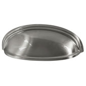 Amerock Ashby Collection (5''W) Cup Pull, Satin Nickel, 128mm W x 44mm D x 35mm H, 76/ 102mm Center to Center