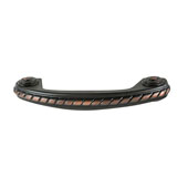 Amerock Allison Collection (3-3/4''W) Rope Style Handle, Oil-Rubbed Bronze, 95mm W x 16mm D x 30mm H, 76 Center to Center