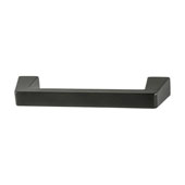 Amerock Blackrock Collection (4-3/5''W) Handle, Black Bronze, 117mm W x 14mm D x 30mm H, 96mm Center to Center