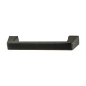Amerock Blackrock Collection (3-3/4''W) Handle, Oil-Rubbed Bronze, 95mm W x 14mm D x 27mm H, 76mm Center to Center
