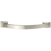 Amerock Candler Collection (6-4/7''W) Handle, Satin Nickel, 167mm W x 21mm D x 32mm H, 128mm Center to Center