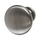 Amerock Allison Collection (1-1/4'' Dia.) Round Traditional Knob, Antique Silver, 32mm Diameter