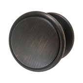 Amerock Allison Collection (1-1/4'' Dia.) Round Flattened Knob, Oil-Rubbed Bronze, 32mm Diameter