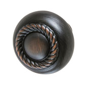 Amerock Allison Collection (1-1/4'' Dia.) Round Rope Style Knob, Oil-Rubbed Bronze, 32mm Diameter