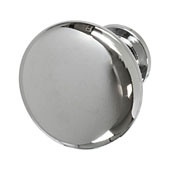 Amerock Allison Collection (1-1/4'' Dia.) Round Traditional Knob, Polished Chrome, 32mm Diameter