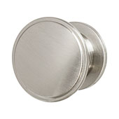 Amerock Allison Collection (1-1/4'' Dia.) Round Flattened Knob, Satin Nickel, 32mm Diameter