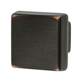 Amerock Blackrock Collection (1-1/6''W) Square Knob, Oil-Rubbed Bronze, 30mm W x 30mm D x 27mm H