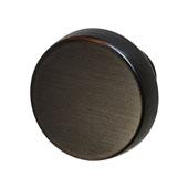Amerock Blackrock Collection (1-2/7'' Dia.) Round Knob, Oil-Rubbed Bronze, 33mm Diameter