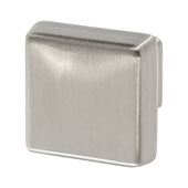Amerock Blackrock Collection (1-1/6''W) Square Knob, Satin Nickel, 30mm W x 30mm D x 27mm H