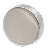Design Deco Series Amerock Blackrock Collection Zinc Knob in Satin/Brushed Nickel, 44mm Diameter x 33mm D (1-3/4'' Diameter x 1-5/16'' D)