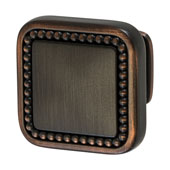 Amerock Carolyne Collection (1-1/4''W) Square Knob, Oil-Rubbed Bronze, 32mm W x 32mm D x 27mm H