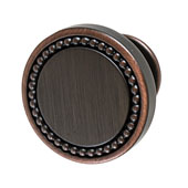 Amerock Carolyne Collection (1-3/8'' Dia.) Round Knob, Oil-Rubbed Bronze, 35mm Diameter