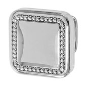 Amerock Carolyne Collection (1-1/4''W) Square Knob, Polished Nickel, 32mm W x 32mm D x 27mm H