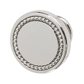 Amerock Carolyne Collection (1-3/8'' Dia.) Round Knob, Polished Nickel, 35mm Diameter