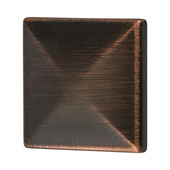 Amerock Extensity Collection (1-1/7''W) Square Knob, Oil-Rubbed Bronze, 29mm W x 29mm D x 27mm H
