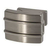 Amerock Davenport Collection (1-1/2''W) Knob, Satin Nickel, 38mm W x 35mm D x 32mm H