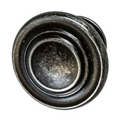 Amerock Inspirations Collection (1-2/7'' Dia.) Round Knob, Dark Wrought Iron, 33mm Diameter