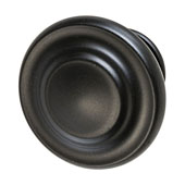 Amerock Inspirations Collection (1-2/7'' Dia.) Round Knob, Matt Black, 33mm Diameter