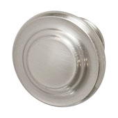 Amerock Inspirations Collection (1-2/7'' Dia.) Round Knob, Satin Nickel, 33mm Diameter