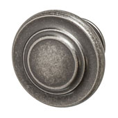 Amerock Inspirations Collection (1-2/7'' Dia.) Round Knob, Weathered Nickel, 33mm Diameter